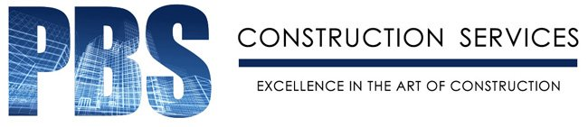 PBS Construction Services custom business logo designed by www.CustomTwit.com